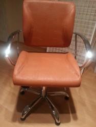 A14#68 Кресло парикмахерское,терракот текст PAMELA