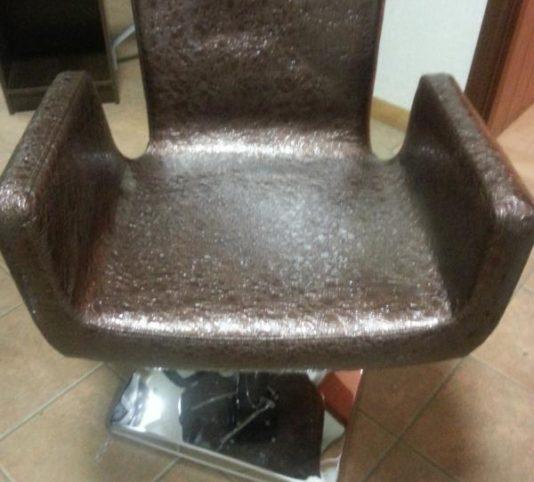 Кресло парикмахерское (коричневое, лаковое)